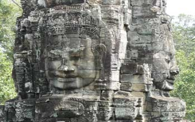 Angkor wat stone carvings