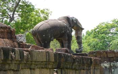 Stone carving of elephant