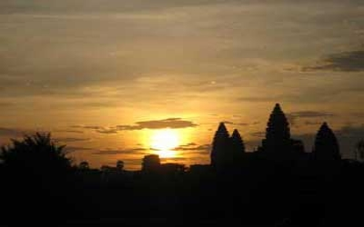 Sunset on Angkor wat