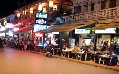 Out door dinning in Siem Reap